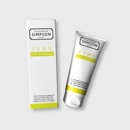 simpsons post shave balm lime