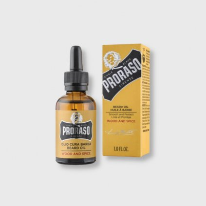 proraso wood and spice olej na vousy 30ml