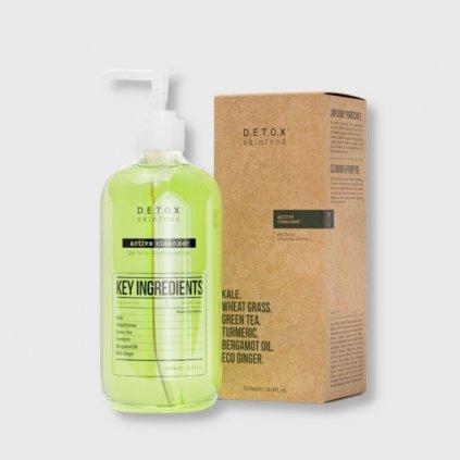 detox skinfood active cleanser 500ml