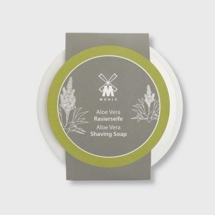 Mühle Aloe Vera mýdlo na holení v porcelánové misce 65 g