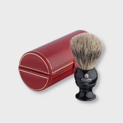 Kent Black Pure Badger štětka na holení s jezevčími štětinami