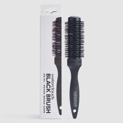 Waterclouds Black Brush No.02 kulatý kartáč na vlasy 33mm