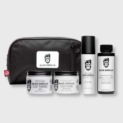 Slick Gorilla The Gorilla Collection sada vlasového stylingu a toaletní tašky
