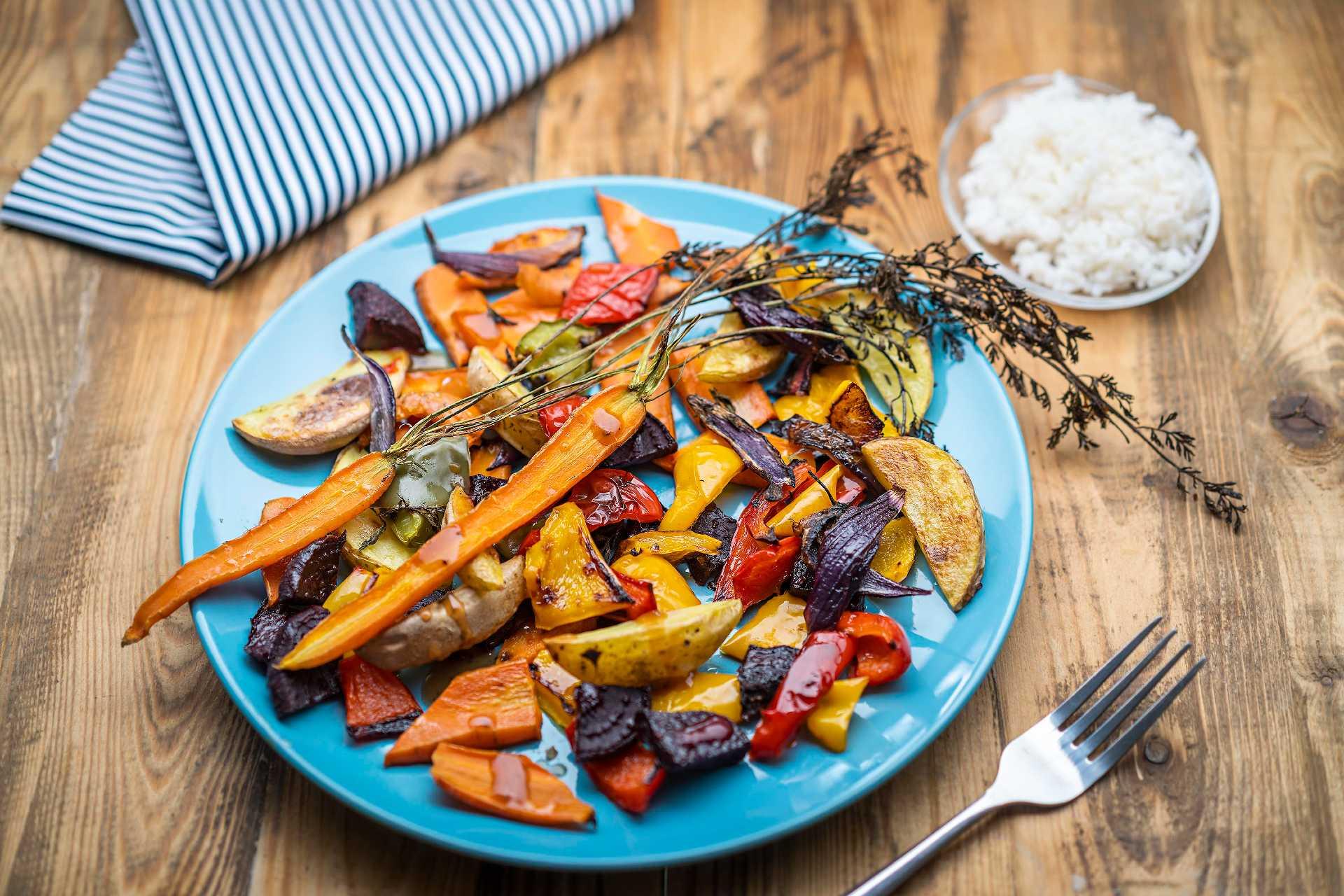 Salát z pečené zeleniny s rýží Slim Pasta