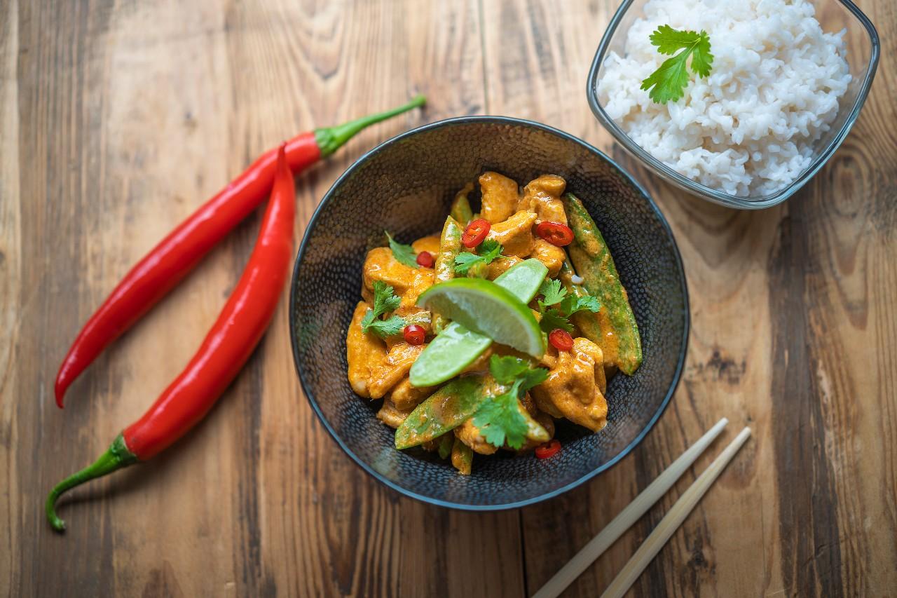 Thajské červené kari s rýží Slim Pasta