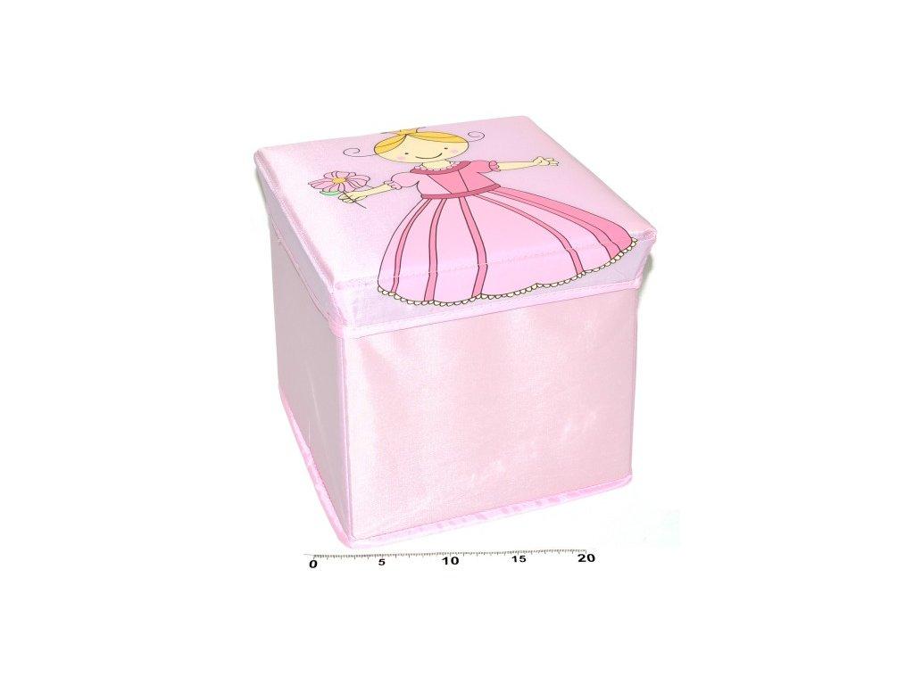 1642 box na hracky skladaci vila 25cm