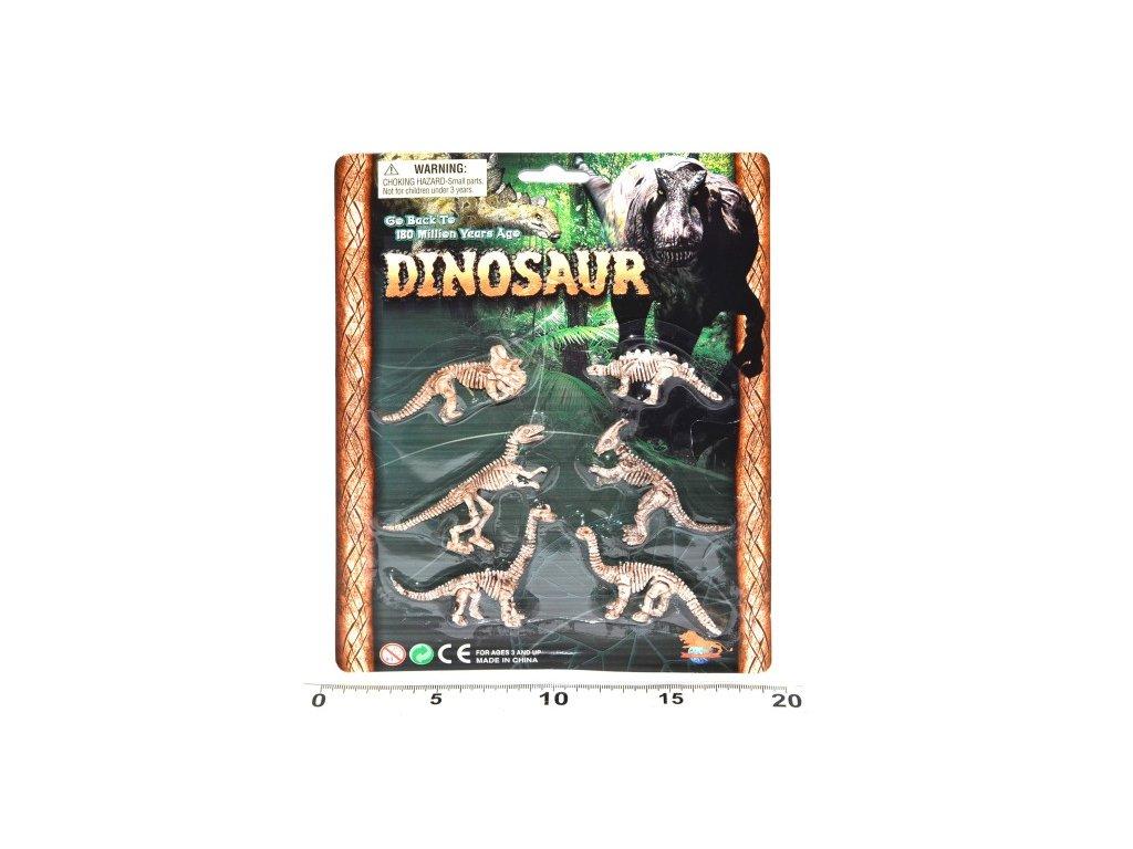 1666 dinosaurie kostry set 6ks