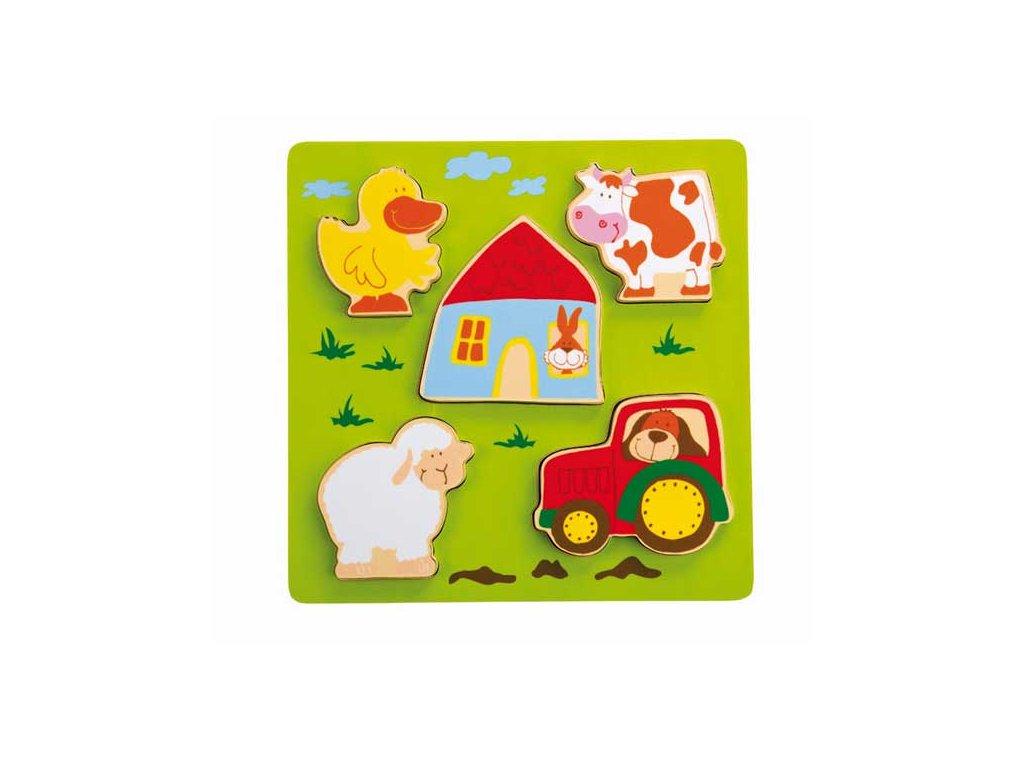 1993 sigikid play q drevene vkladacie puzzle farma