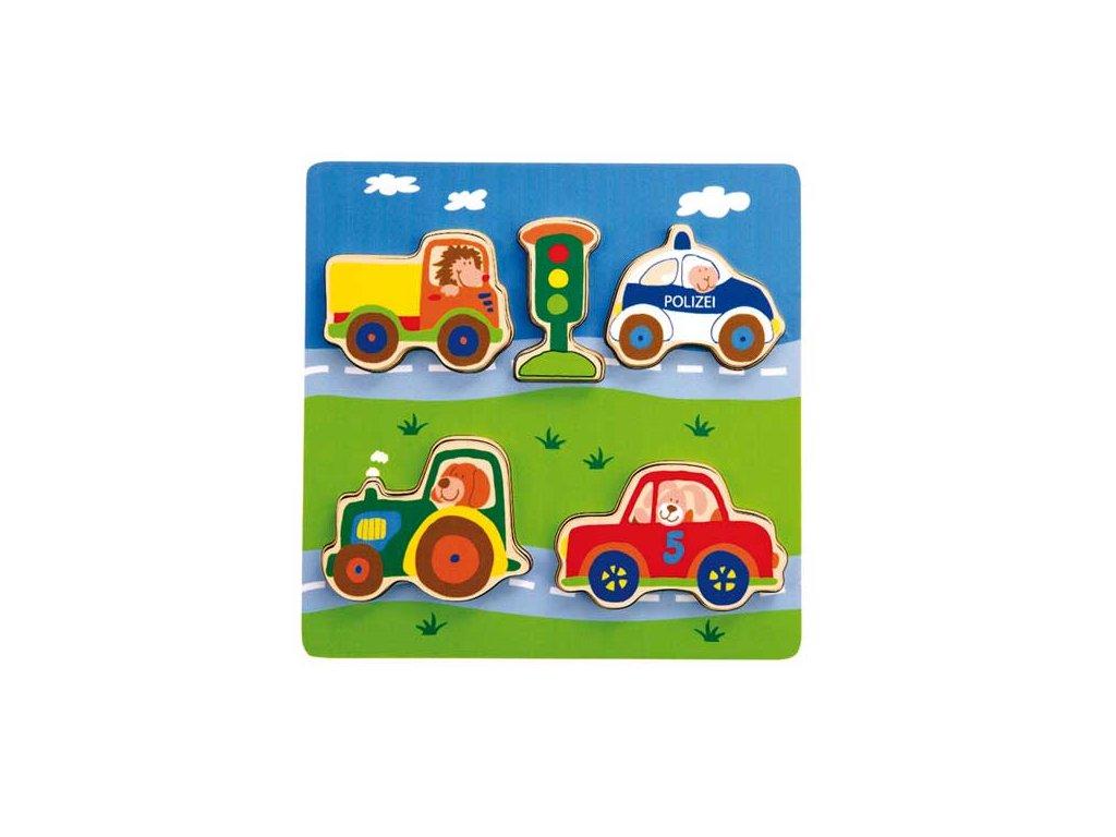 1996 sigikid play q drevene vkladacie puzzle auta