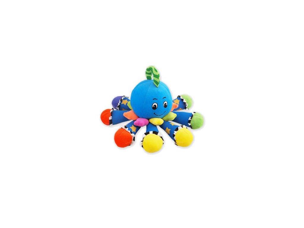 2263 plysova hracka so zvukom baby mix chobotnicka modra