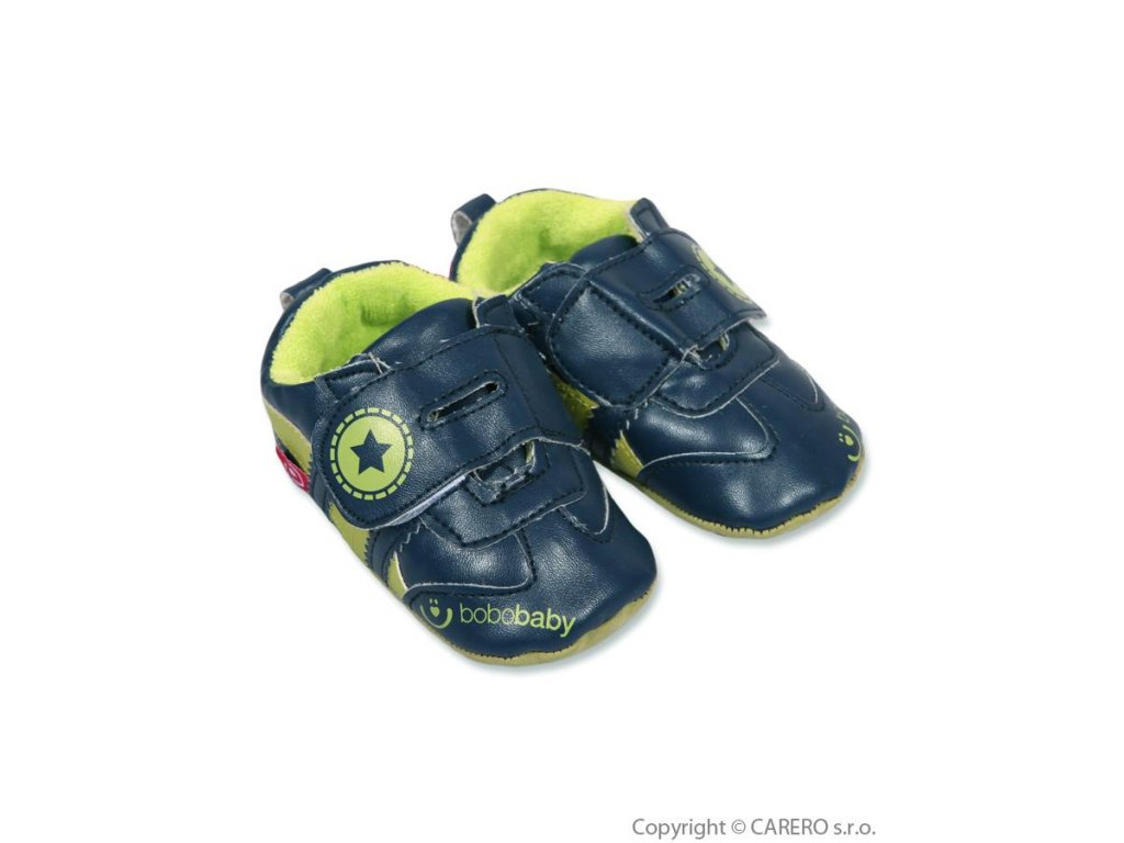 Dětské capáčky Bobo Baby modro zelené (Veľkosť 12-18 (12,5cm))