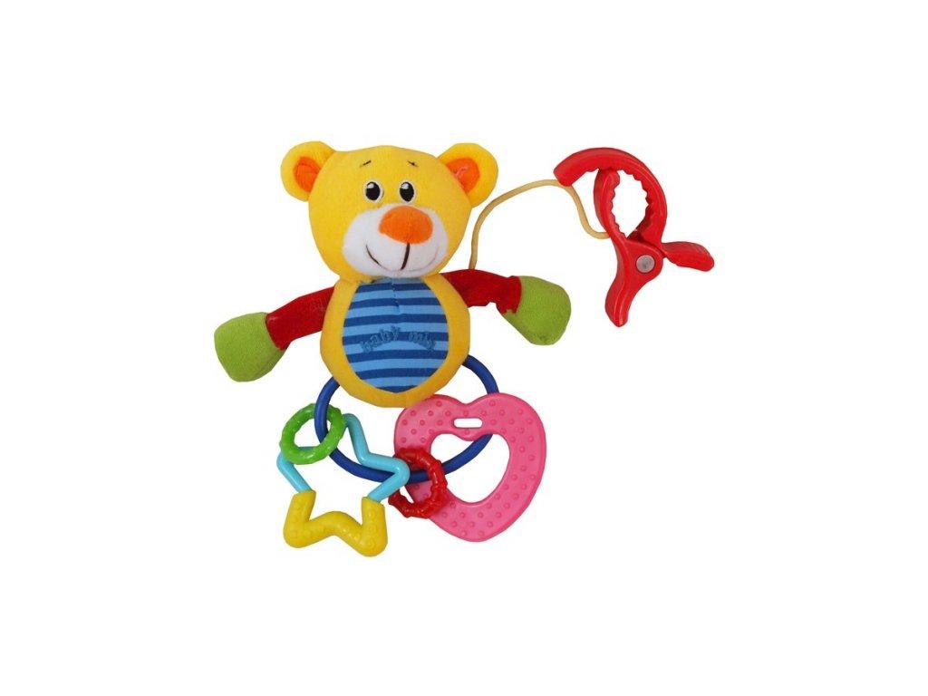 2506 plysova hracka s hrkalkou baby mix medved