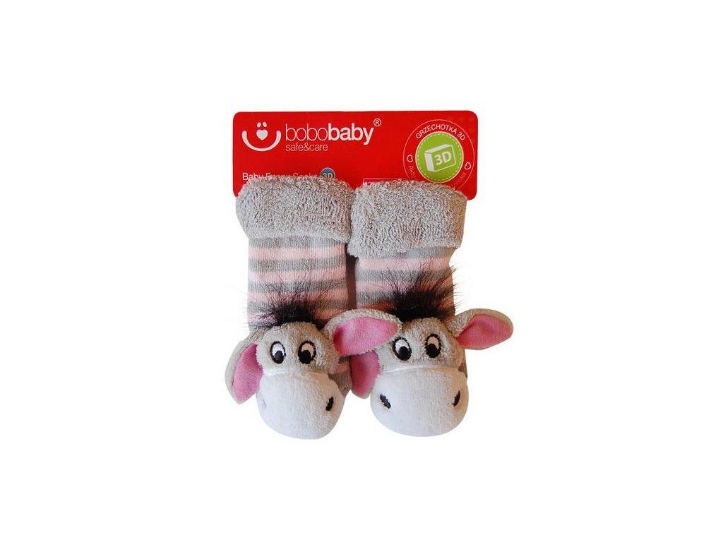 2566 ponozky kojenecke s hrkalkou bobo baby somarik
