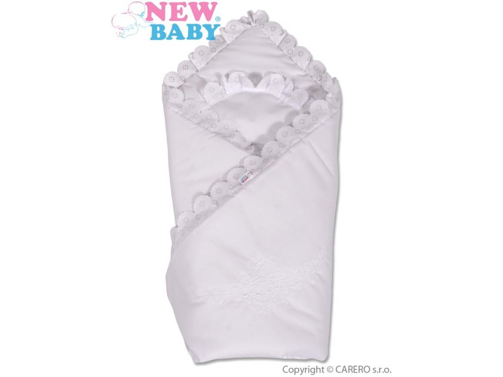 2611 bavlnena zavinovacka s krajkou new baby