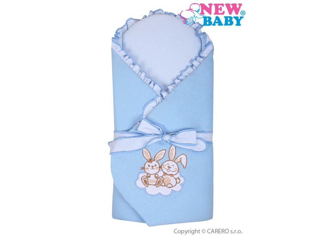 2626 zavinovacka s vyztuzou new baby bunnies modra