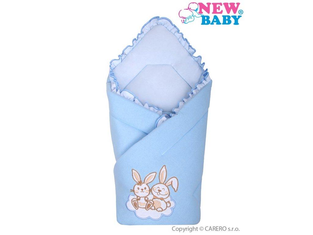 2629 zavinovacka new baby bunnies modra
