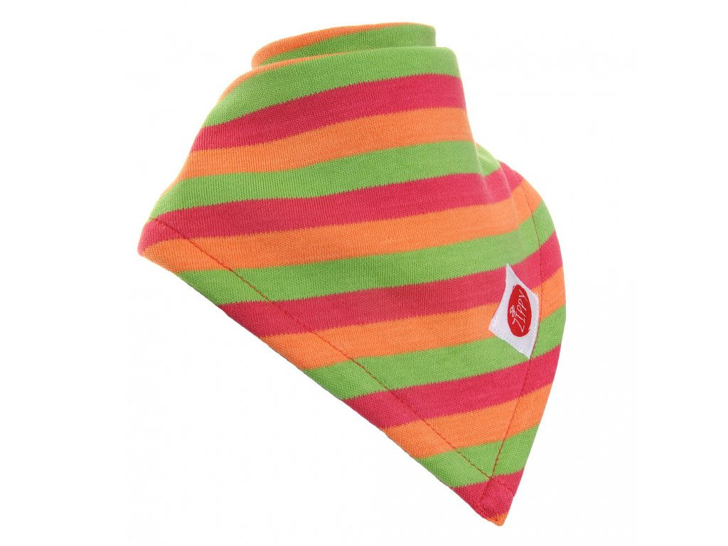 Zippy Absorbent Bib Orange Green Red Stripe 0
