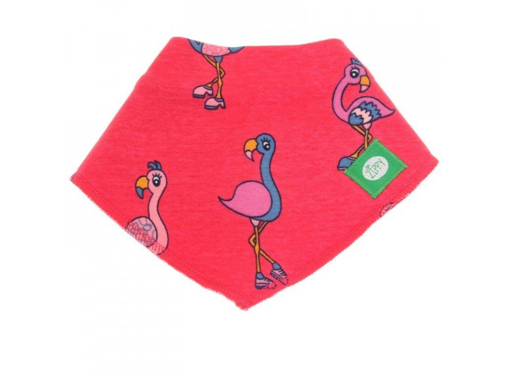 Zippy absorpčný podbradník Fabulous Flamingoes