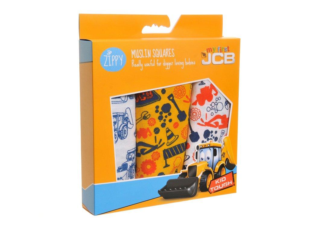 JCB mušelínové plienky - colourful muslin set