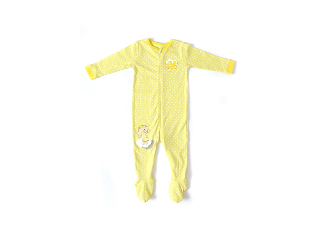 Cloudbabies pyžamko - Baba Yellow
