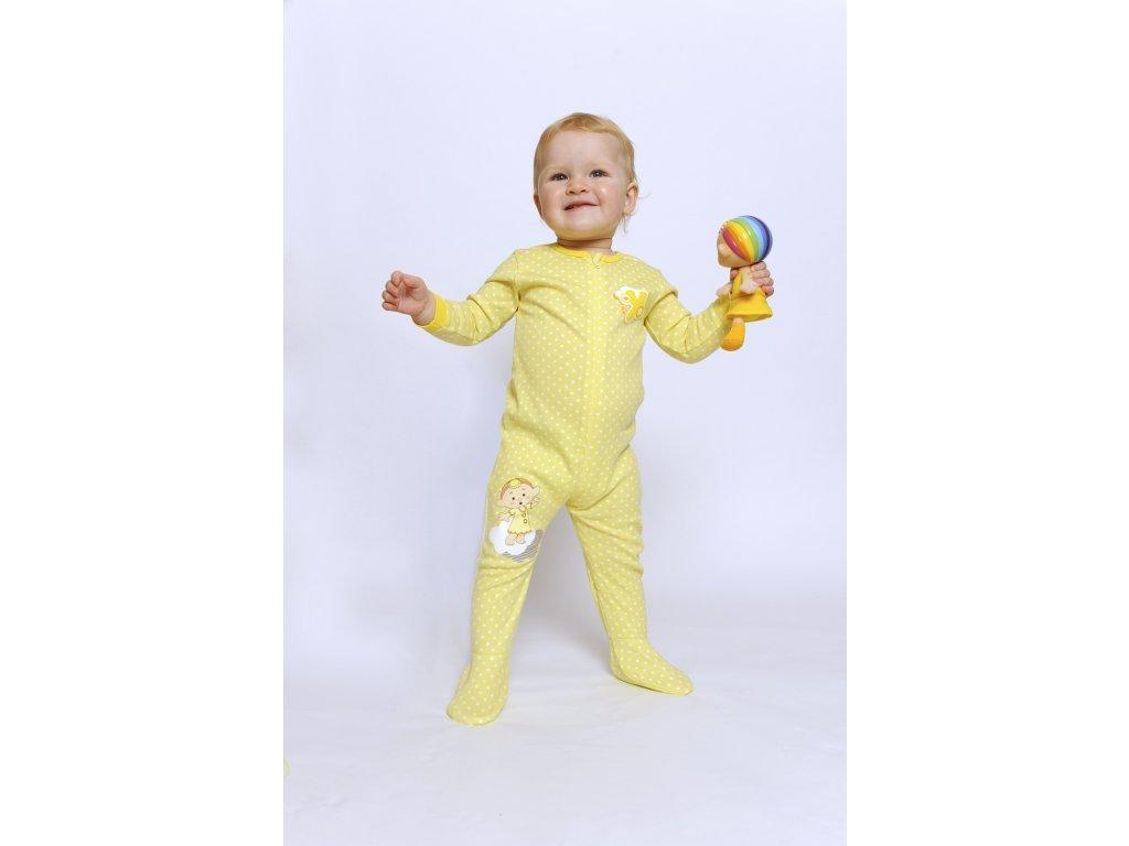 Cloudbabies detské pyžamo žlté 1