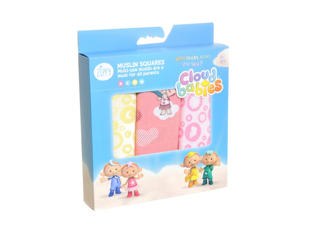 Mušelínové plienky Cloudbabies dievčatá 1