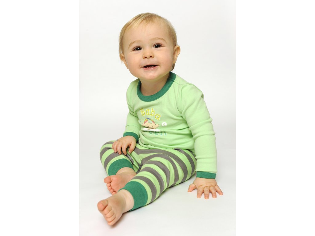 Cloudbabies dvojdielne pyžamo zelené 1