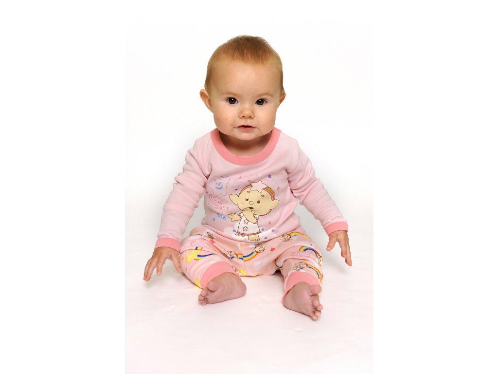 Cloudbabies dvojdielne pyžamo ružové 1