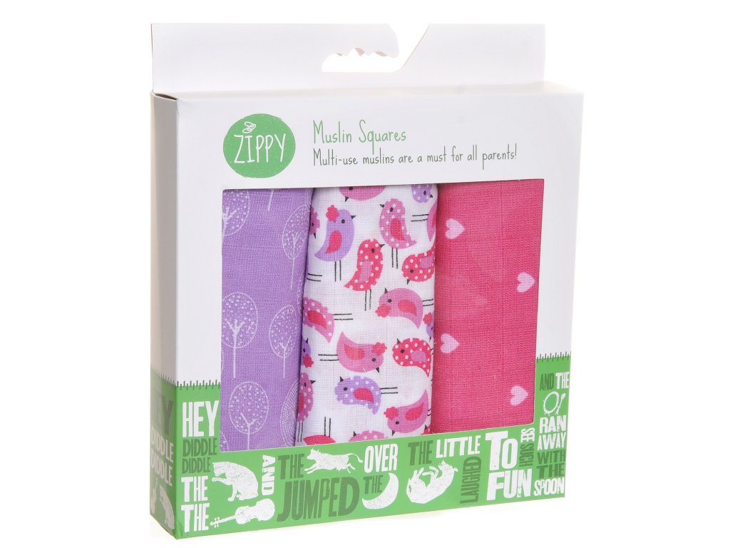 Boxed CheerfulPinksLilacs Muslins 0