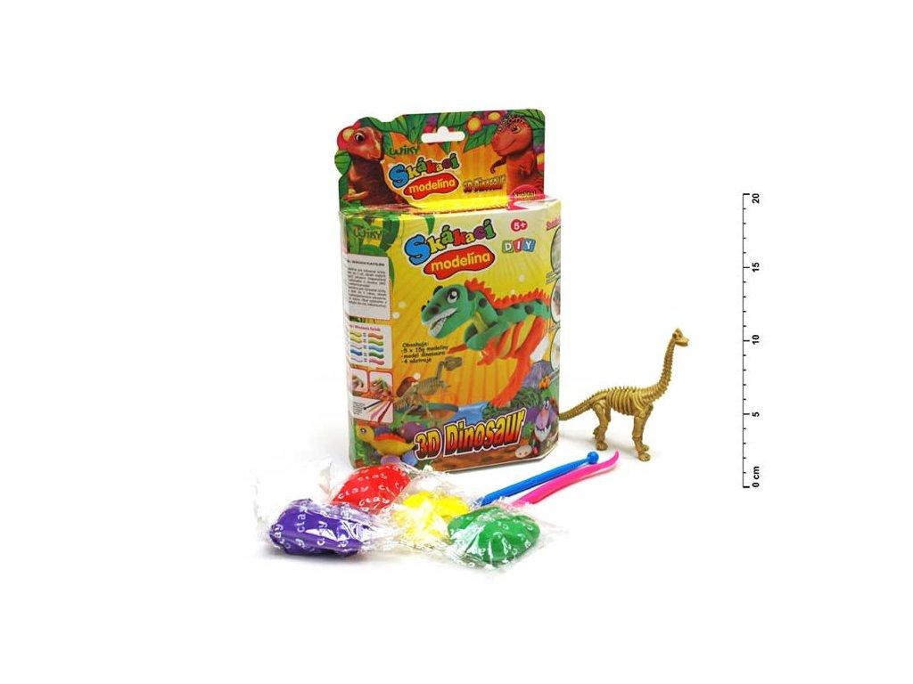 skakacia plastelina 3d dinosaur