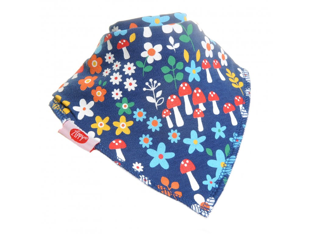woodland girls blue all over print