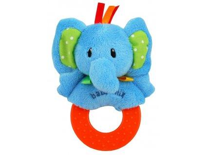1729 detska plysova hrkalka baby mix slon