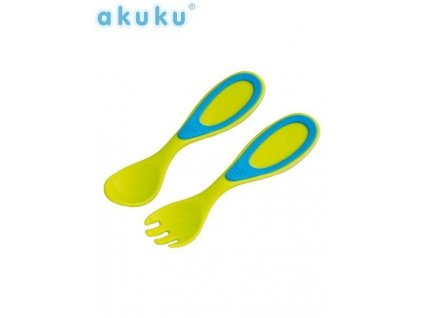 Vidlička a lyžička Akuku (Farba Oranžová)