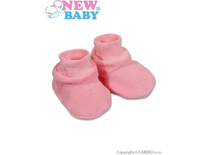 2497 detske papucky new baby ruzove