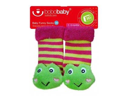 2515 ponozky kojenecke s hrkalkou bobo baby zaba