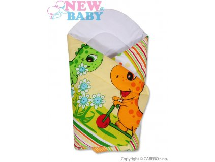2617 detska zavinovacka new baby oranzova s dinom