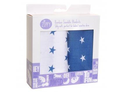 zippy bambusové deky Navy and white star 1