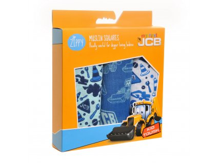 JCB mušelínové plienky - blue muslin set