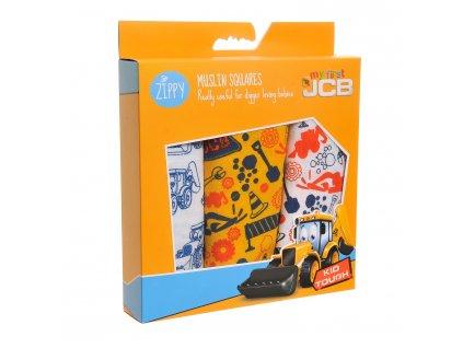 JCB mušelínové plienky farebné 1