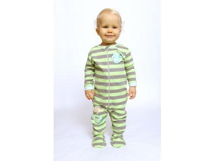 Cloudbabies detské pyžamo zelené 1