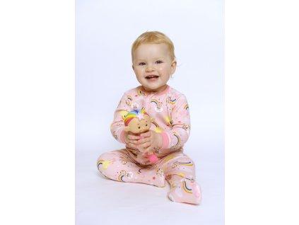 Cloudbabies detské pyžamo ružové 1