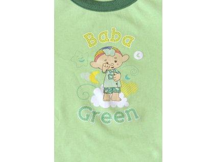 Cloudbabies dvojdielne pyžamko - Baba Green (Veľkosť 6 - 12 mesiacov)