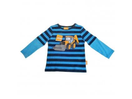 JCB Striped - tričko s dlhým rukávom (Veľkosť 3 - 6 mesiacov)
