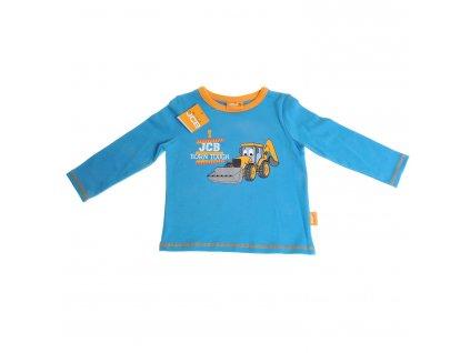 JCB Blue - tričko s dlhým rukávom (Veľkosť 6 - 12 mesiacov)