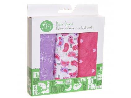 Zippy mušelínové plienky Pink Lilac 1