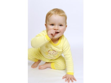 Cloudbabies dvojdielne pyžamo žlté 1