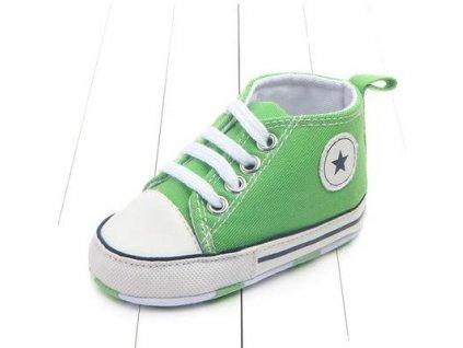 Capáčky STAR bledo zelené (Veľkosť 6-12m (12cm))