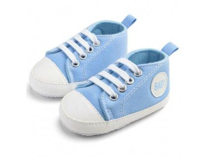 Capáčky Baby  bledo modré (Veľkosť 6-12m (12cm))