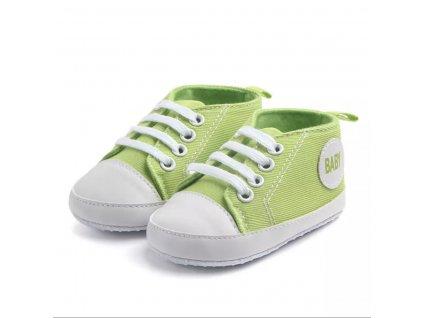 Capáčky Baby bledo zelené (Veľkosť 6-12m (12cm))