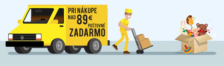 poštovné zadarmo pri nákupe nad 89€